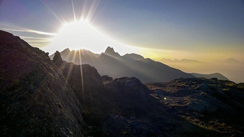 Lo spettacolo dell'alba dal Benigni