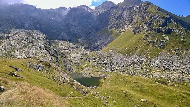 Lago alpino Val di Bomino dal Verrobbio