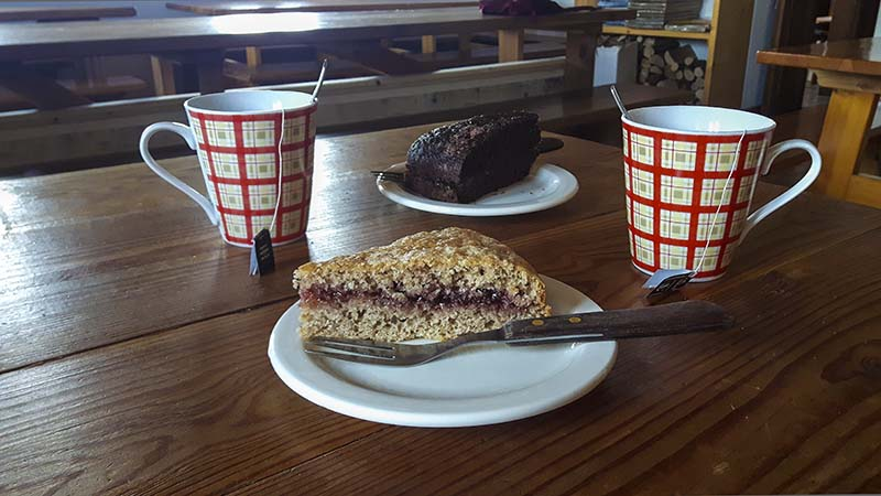 La torta home made del rifugio Benigni