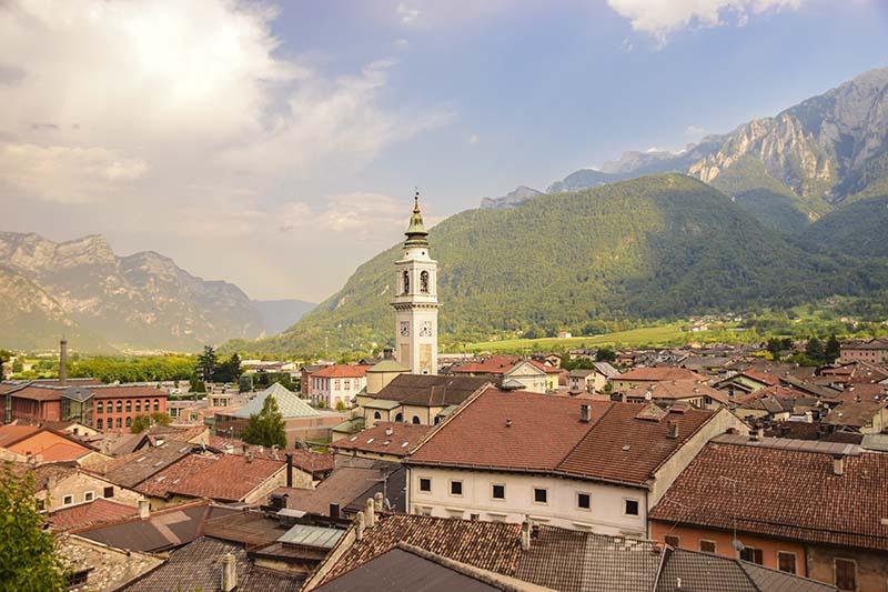 Borgo Valsugana Il panorama dal Convento delle Clarisse