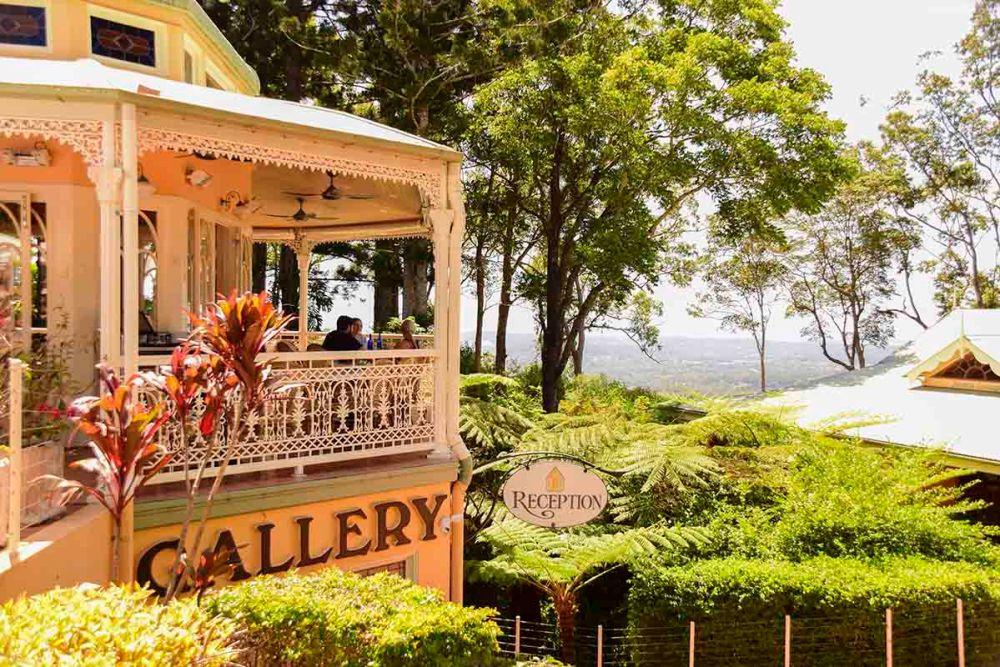 Il cafe con la terrazza panoramica a Montville