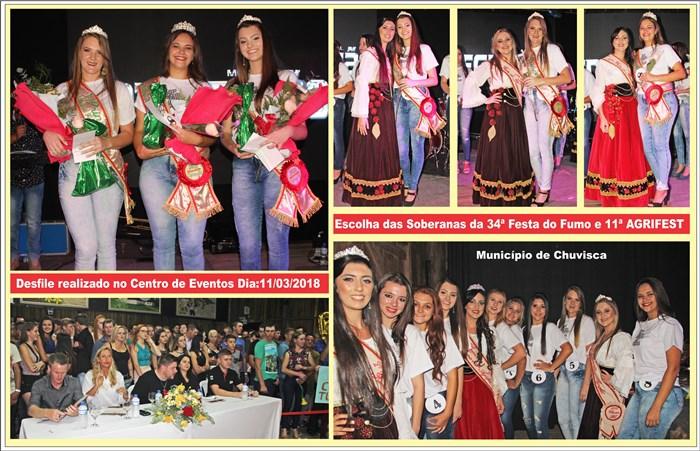 Soberanas da 34ª Festa do Fumo 11ª Agrifest de Chuvisca