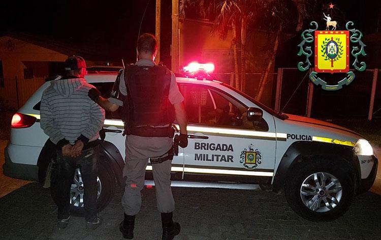 Brigada Militar prende homem que assaltou com revólver de brinquedo