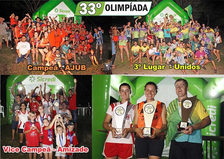 33ª Olimpíada – Juventude Rural de Camaquã (Premiação)