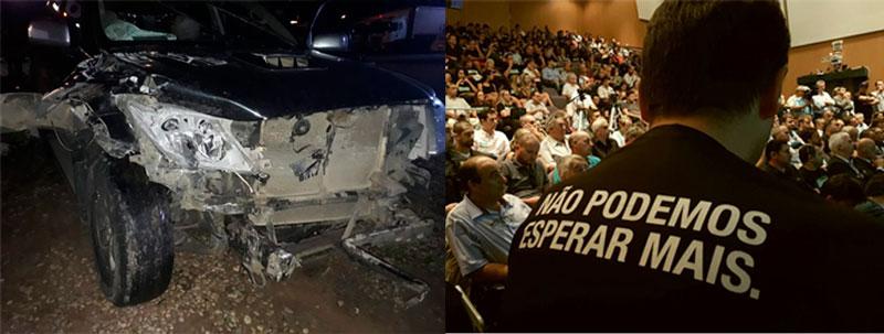 Zé Nunes, coordenador da Frente Parlamentar da BR 116, sofre acidente na rodovia