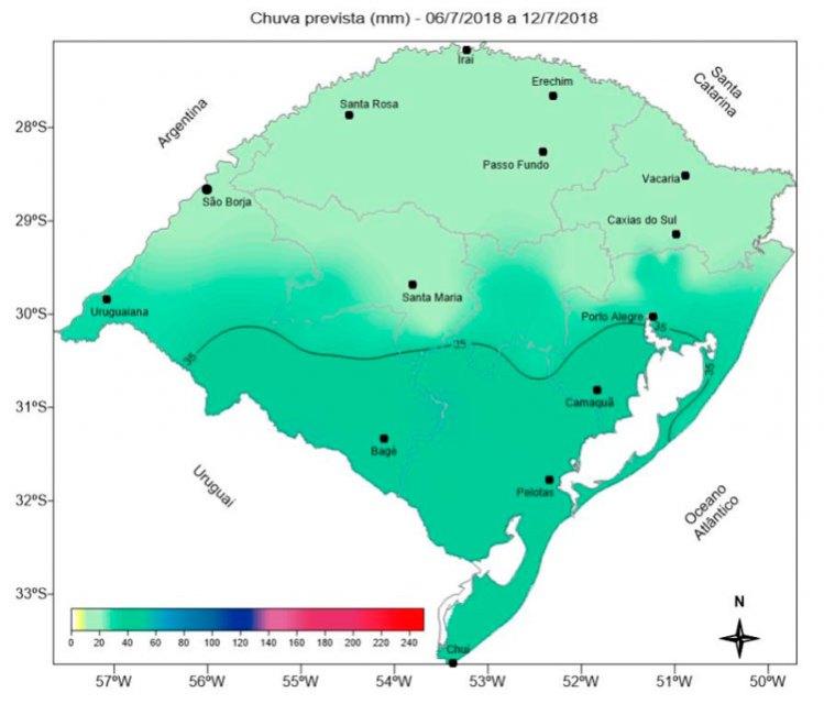 Próxima semana terá tempo frio e chuvas isoladas