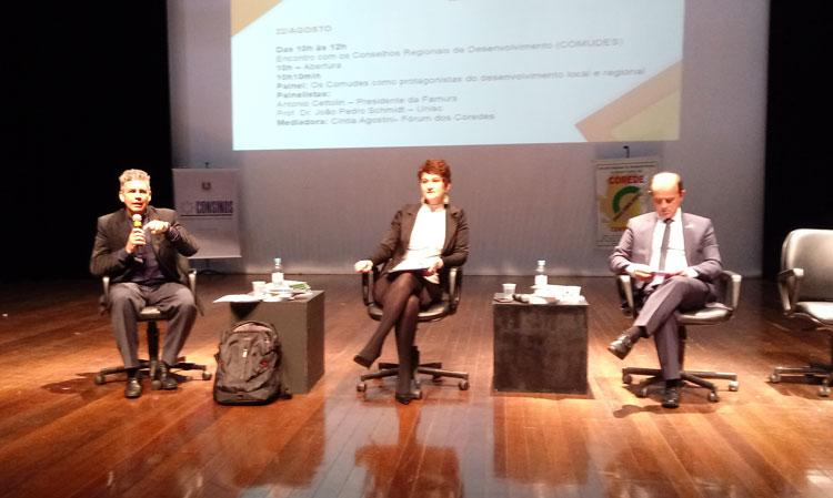 Corede Centro Sul participou de Seminário do Fórum dos Coredes RS