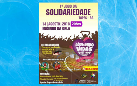 1º Jogo da Solidariedade terá como atrações os ex-atletas colorados Fabiano e Índio