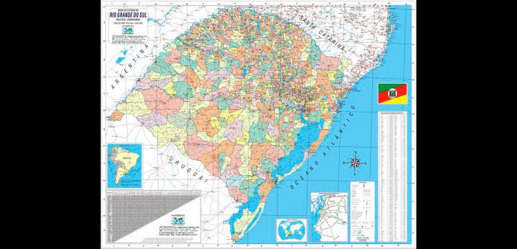 Rio Grande do Sul ganha primeira cartografia oficial do território