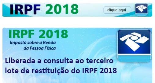 Receita abre consulta ao terceiro lote de restituição do IR 2018