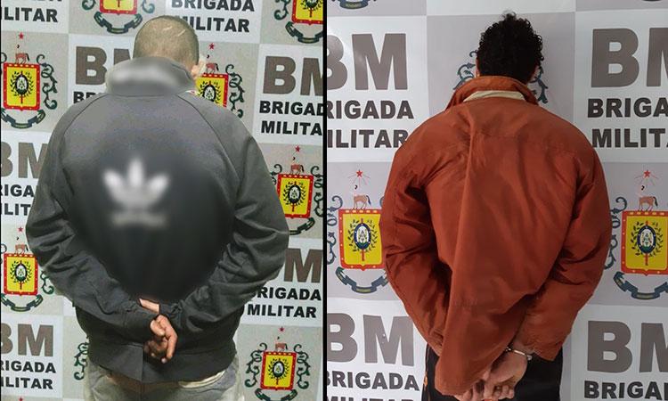 Brigada Militar prende um foragido e outro por posse de drogas em Camaquã