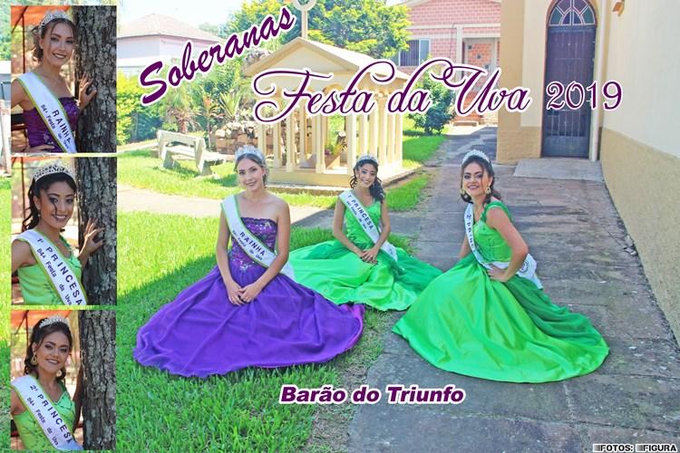 Soberanas da Festa da Uva de Barão do Triunfo 2019
