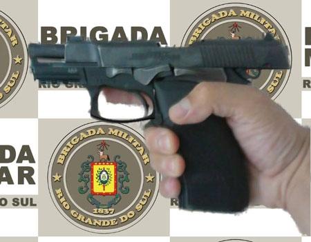 Brigada Militar de Tapes prende homem por porte ilegal de arma de fogo
