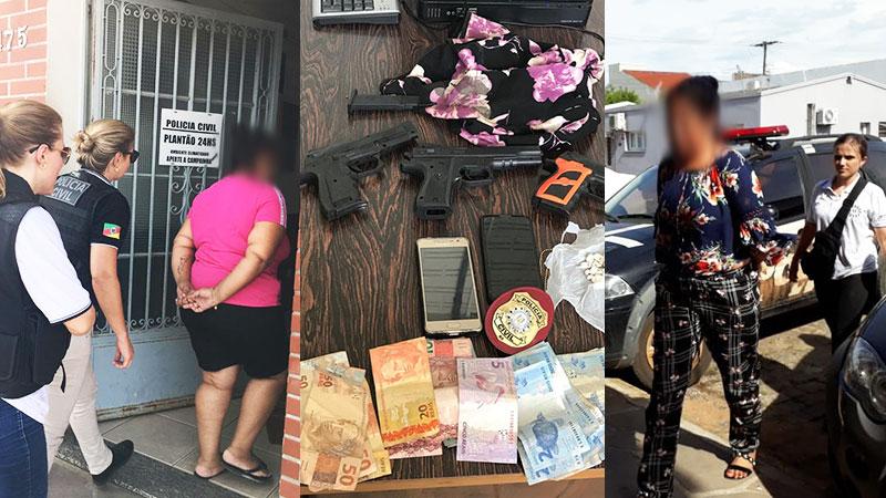 Polícia prende duas mulheres em operação contra o tráfico de drogas