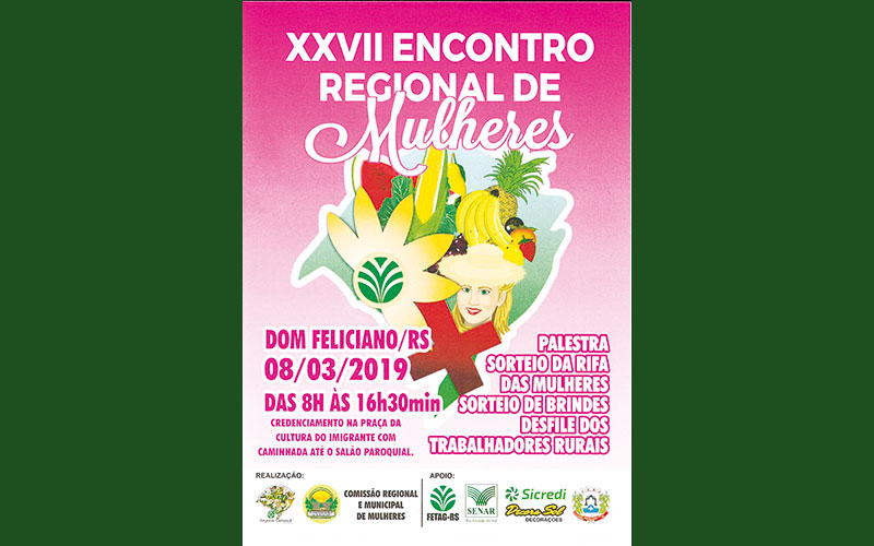 Dom Feliciano sediará XXVII Encontro Regional de Mulheres