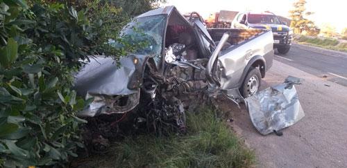 Acidente envolvendo carreta e camionete acaba em morte na BR-116, em Camaquã
