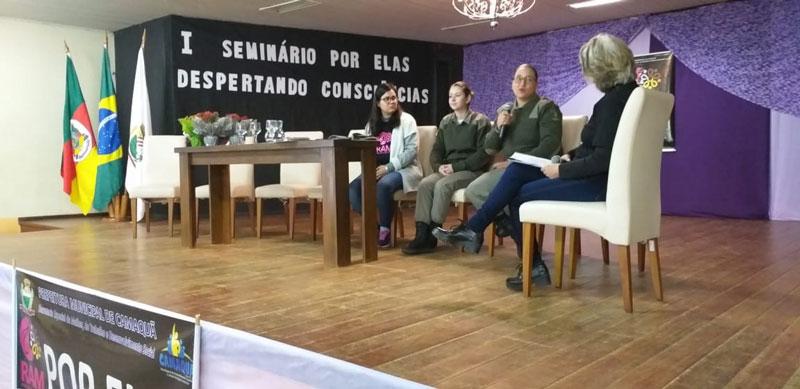 Brigada Militar de Camaquã participa do I Seminário POR ELAS – Despertando Consciência