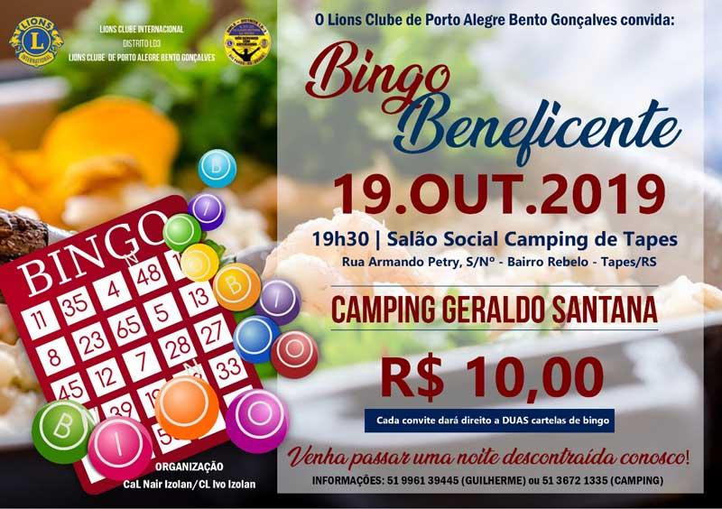 Lions Clube promoverá bingo beneficente e atendimento oftalmológico em Tapes