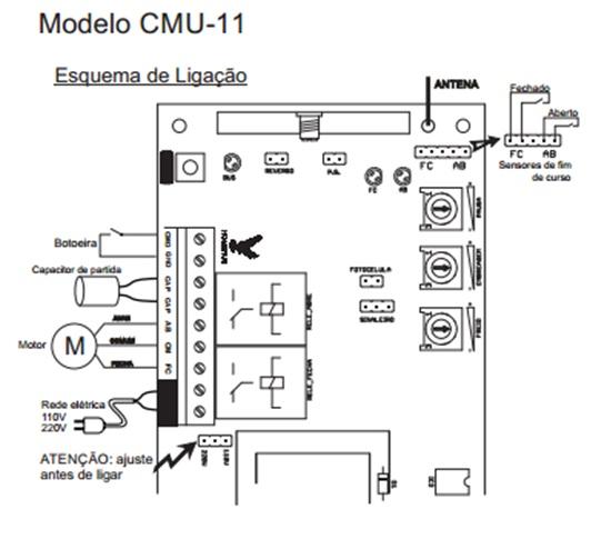 Central Módulo Comando P/ Portão Eletrônico Unisystem