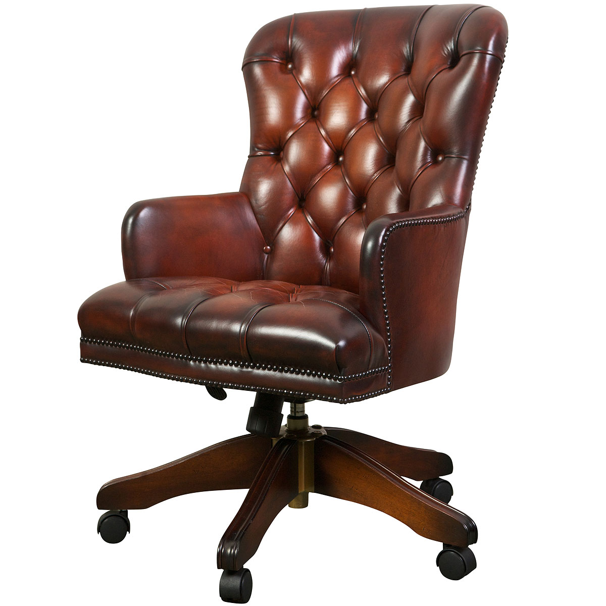 Queen Anne swivel chair Desk Chairs from Brights of Nettlebed