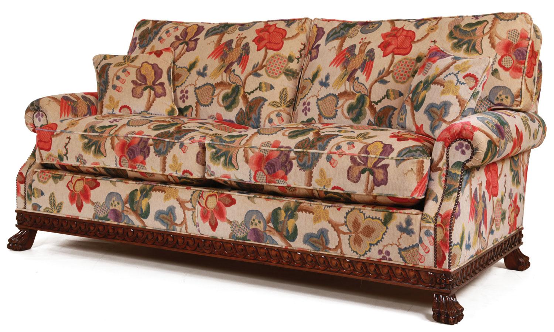 printed fabric sofa designs futon company bed mattress dartington in a floral print velvet sofas