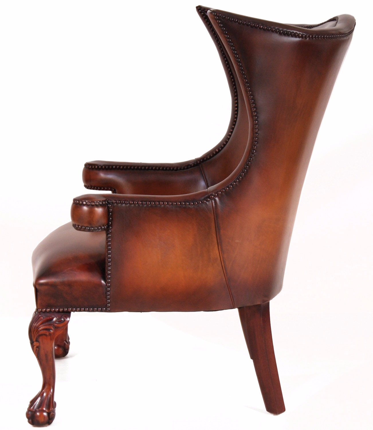 leather wing chair uk best ergonomic recliner chairs okeford in hand dyed hide
