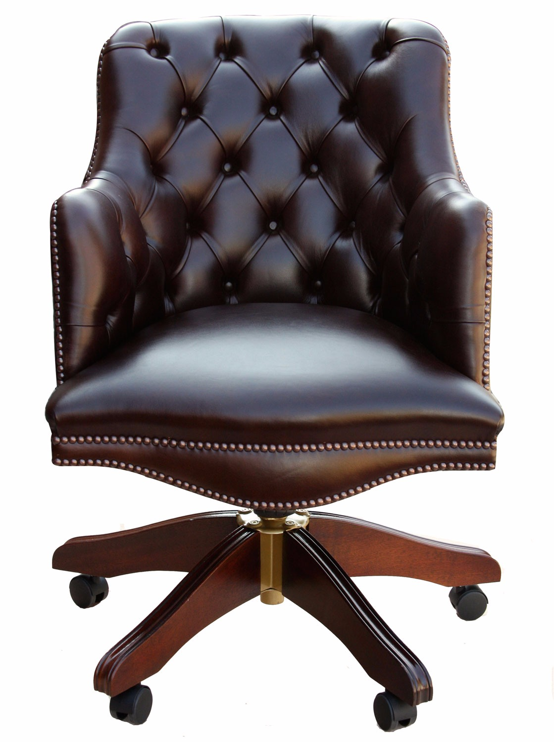 Boatswain Chair Buttoned Bosuns Swivel Chair In Heritage Dark Chocolate