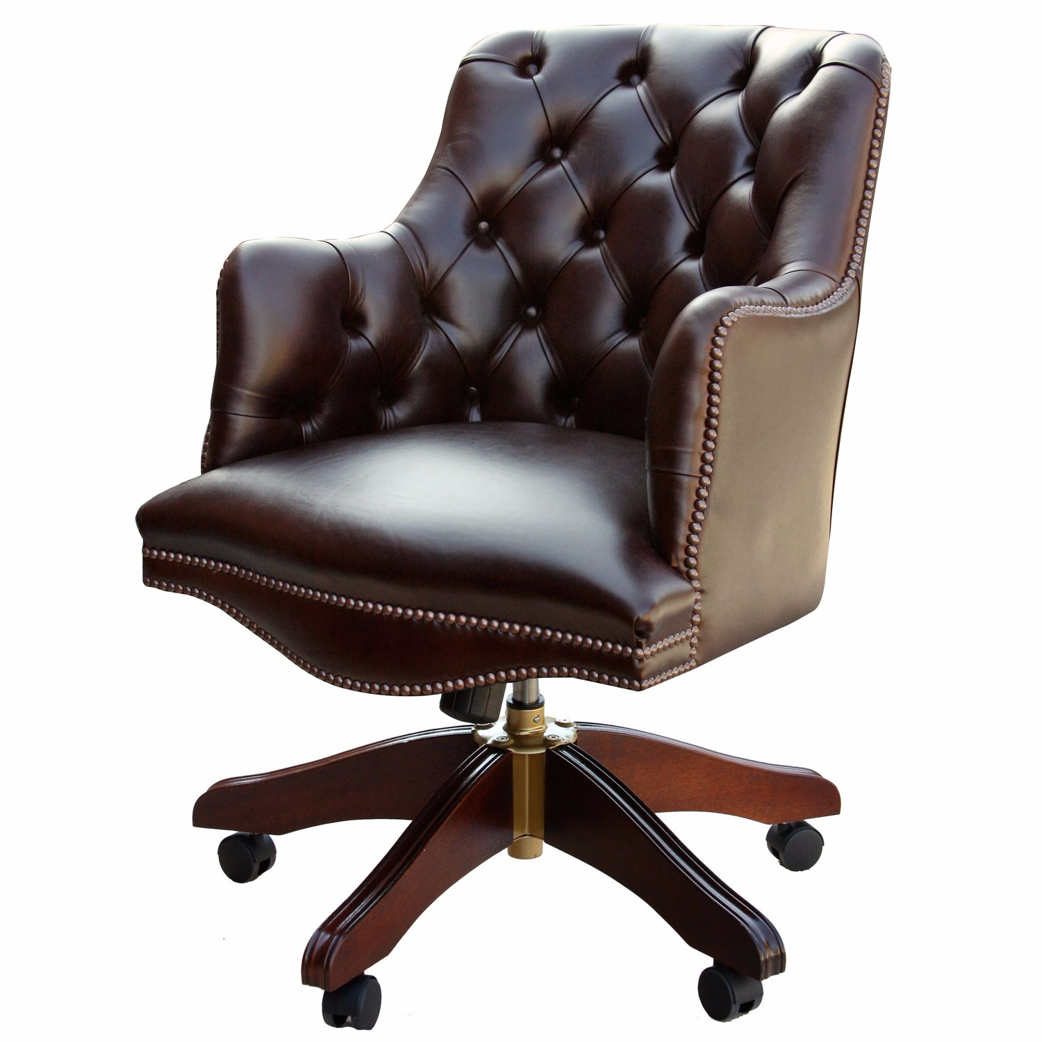 Bosun Chair Buttoned Bosuns Swivel Chair In Heritage Dark Chocolate