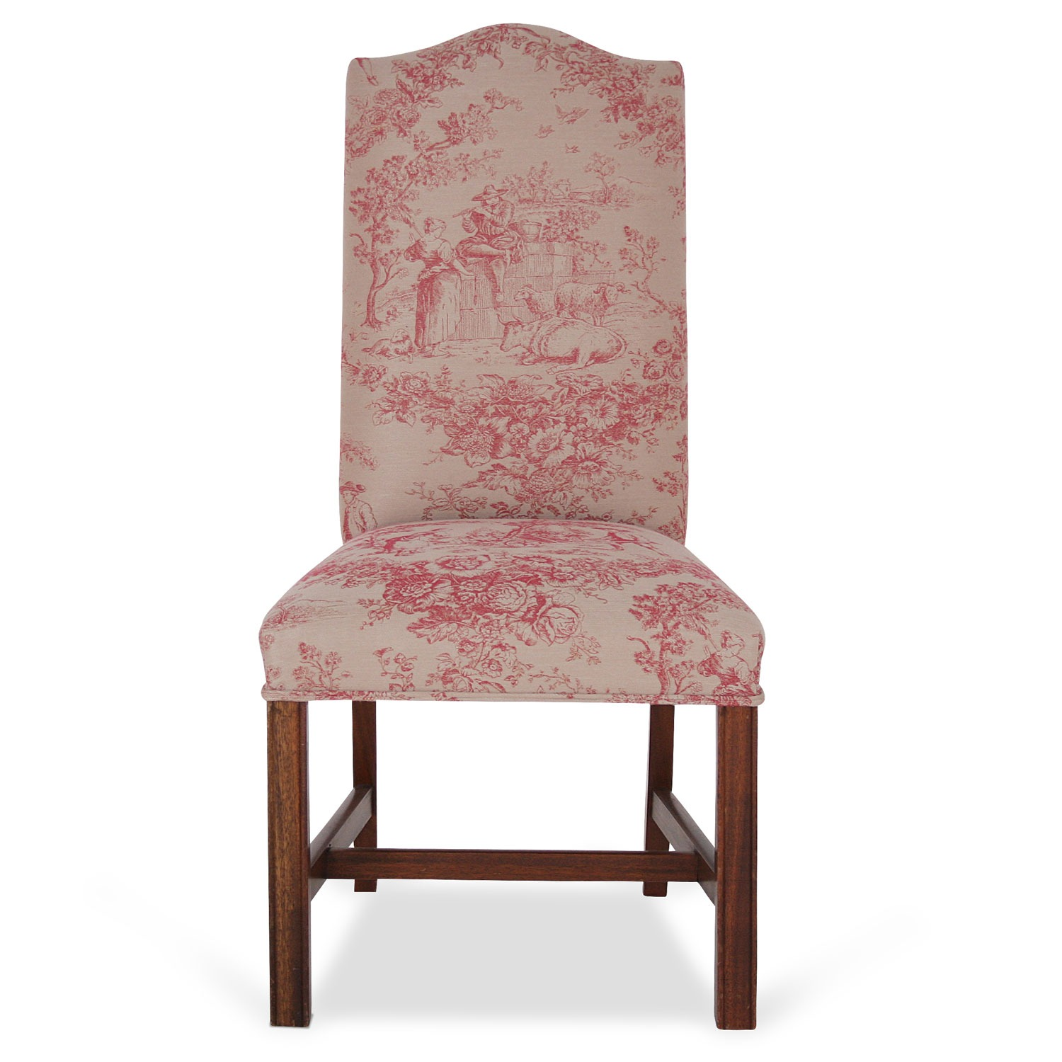 Toile Chair Cathedral Dining Chair In Toile De Jouy Fabric Dining