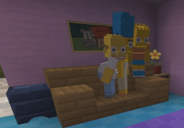 Viral: Minecraft Simpsons