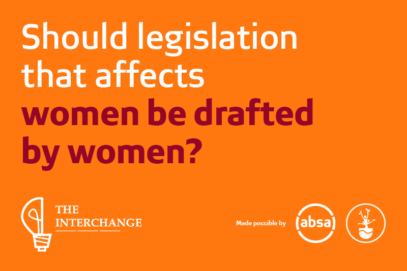 Should legislation that affects women be drafted by women?