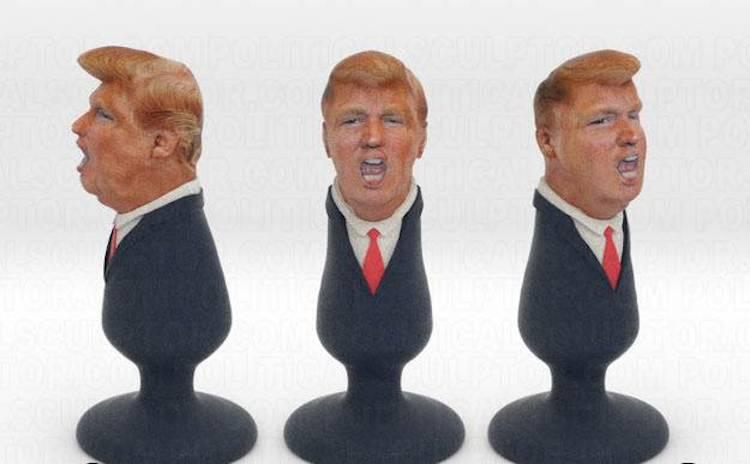 Political Sculptor A Mexican immigrant has created a Donald Trump buttplug  http://www.shapeways.com/product/SCD3B2NJD/donald-trump-plug