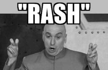 #GCSpodlet – Don't be… rash