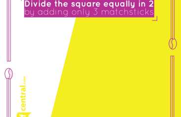 #CliffCentralConundrum: Split the Square in 2