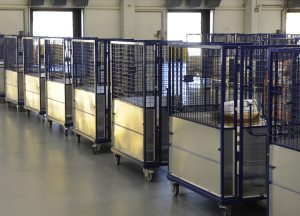 Direct Mail Fulfilment - Mail cages ready to be dispatched