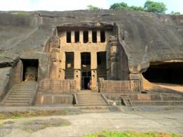A facade of the Kanheri caves, Borivali