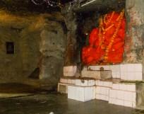 A Ganesha idol within the Jogeshwari Caves, Andheri West, Mumbai