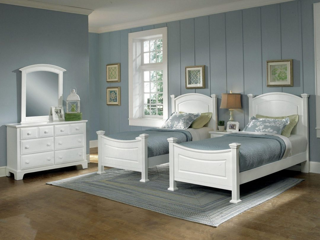bright whites twin beds