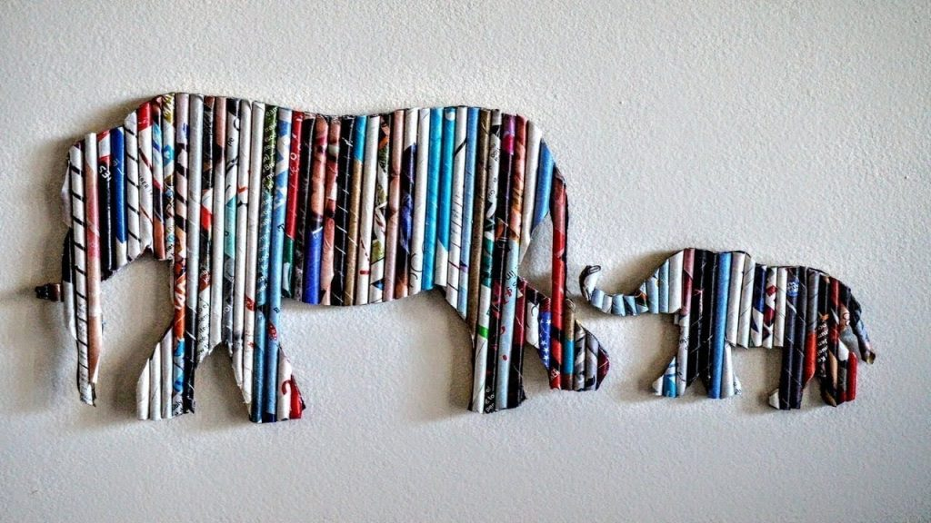 diy cardboard home decor wall art elephant