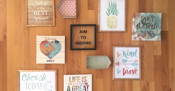 diy wall decor dollar tree