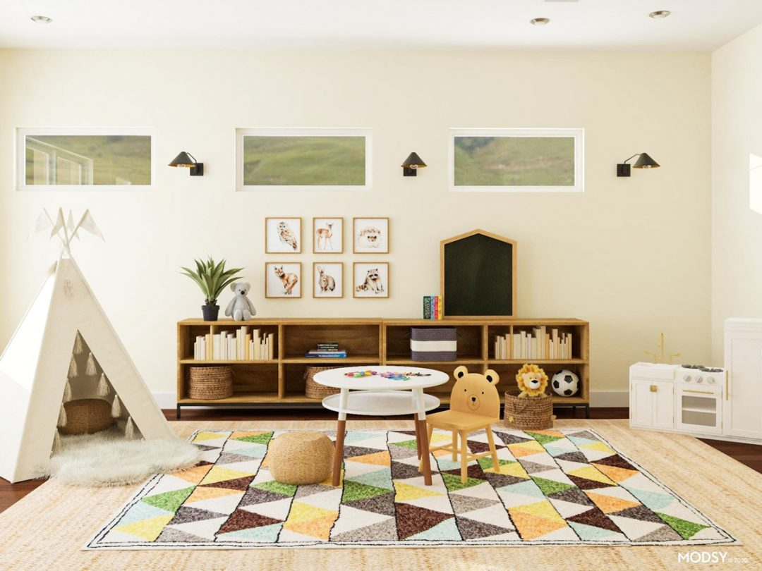make your living room a playroom kids