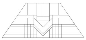 "5402 14"" x 20"" Prairie Lampshade pattern"