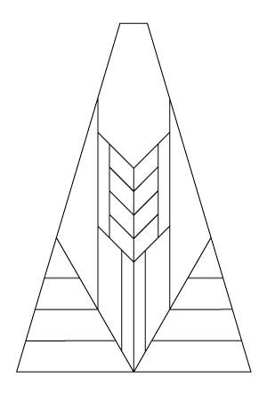 "5802 Wheat 20"" Octagonal lampshade pattern"
