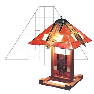 5103 Descent lampshade pattern