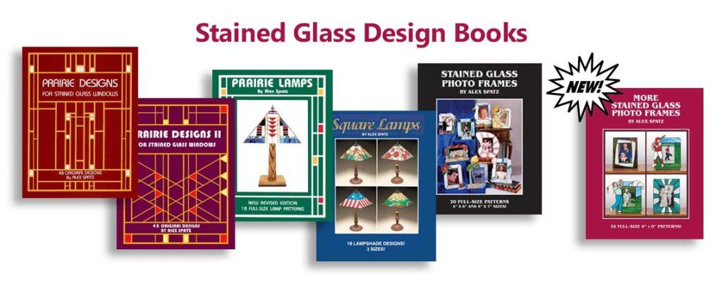 Stained glass design books slider