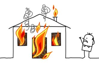 House Fire Illustration