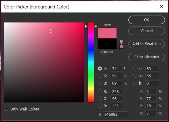 04_Colour Picker_Choose Colour - Recolouring in Photoshop