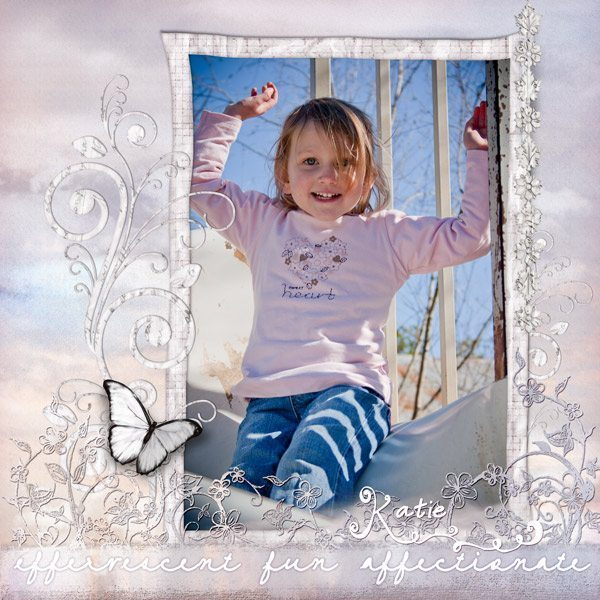 Be My Valentine Digital Scrapbook Layout