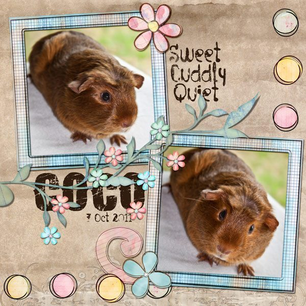 Doodle Spritz Digital Scrapbook Layout