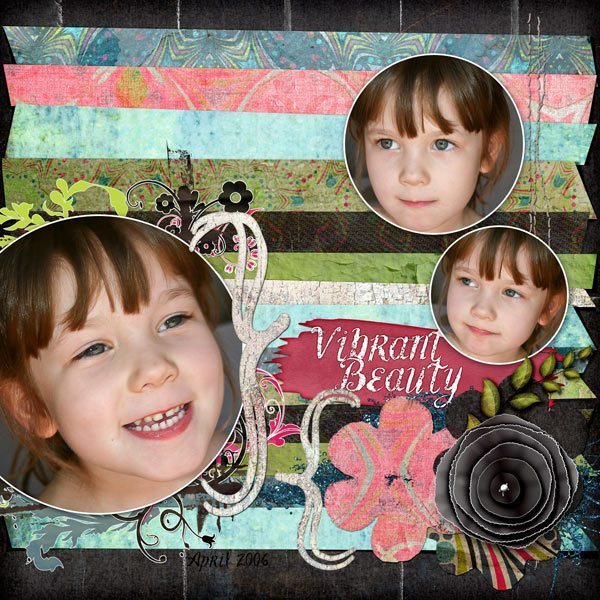 Going Dotty Layered Digital Scrapbook Template
